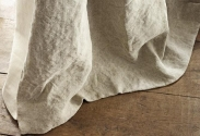 Crushed linen curtain
